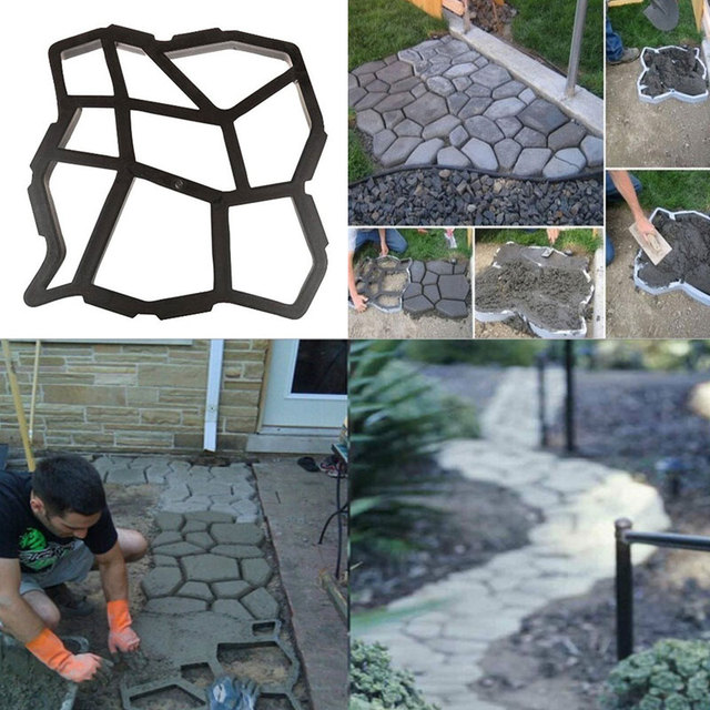Beautiful Driveway Paving Mold Patio Concrete Garden Walk Path Stepping Stone Mould