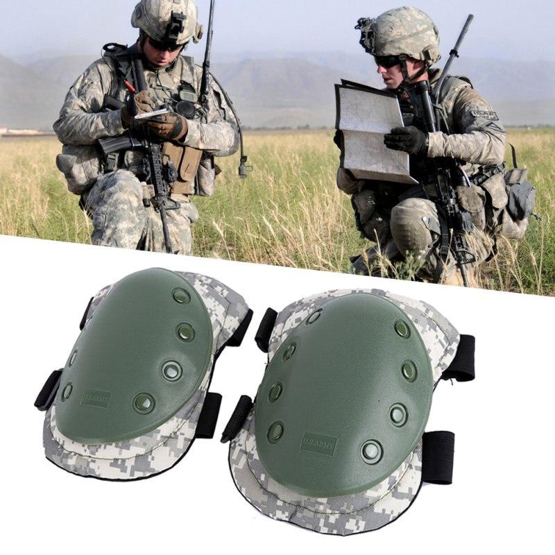 4 unids/lote adulto combate táctico almohadilla protectora conjunto profesional de Deportes Militares rodilla Protector de codo y la rodilla de nuevo