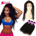 360 Lace Frontal with Bundle Curly Hair with Frontal 8A Malaysian Virgin Hair with Frontal Closure Kinky Curly Virgin Hair