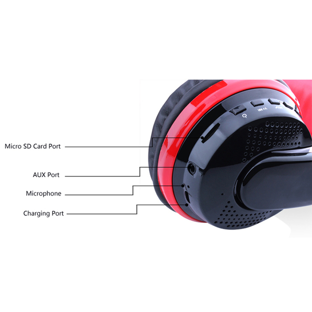 3.5mm przewodowy zestaw słuchawkowy odtwarzacz MP3 z kartą radia FM odtwarzanie maks. 32GB słuchawki z bluetooth bezprzewodowe słuchawki do telefonów PC gry telewizyjne