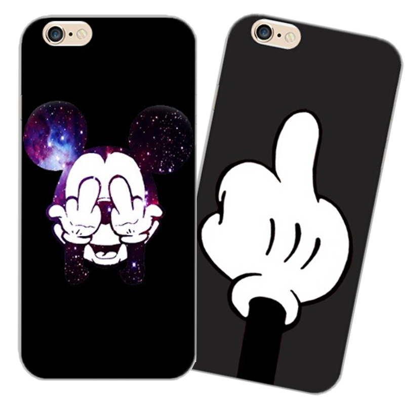 Soft TPU Cover For Apple iPhone5 5S SE 6 6S 6SPlus 7 7S 7 Plus Case Cases Phone Shell High Quality Bad Mickey Cartoon Silicon