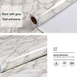 Image 3 - Marble Self adhesive Wallpaper Waterproof Bathroom Contact Paper Countertop Kitchen Oil proof Wall Sticker Toilets Tile Stickers