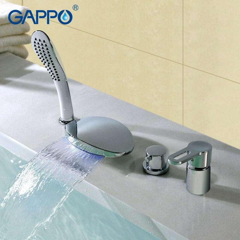 цена на GAPPO shower faucet basin waterfall faucets shower mixer tap bath faucet Rainfall taps bathtub faucets