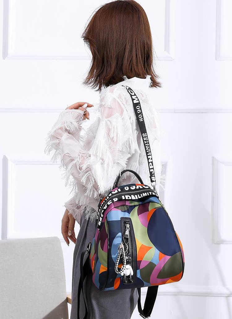 2019 Новый женский рюкзак с подвеской в виде медведя, высококачественный Молодежный цветной рюкзак для девочек, повседневные сумки большой емкости для женщин