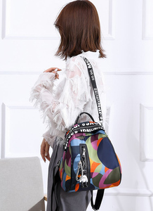 Image 2 - 2020 new ladies bear pendant Multifunction backpack high quality youth color backpack girl casual large capacity Bags for women
