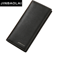Fashion Long Leather Man Wallets Designer Wallets Man Long Purses Business Wallets For Youth Man Vintage