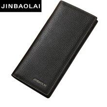 New Men Wallet Genuine Leather Long Clutch Wallets For Men Bifold Leather Wallet Men Slim font