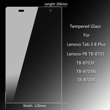 Screen Protector for Lenovo Tab3 8 Plus P8 TB-8703 Tempered Glass Tablet PC Ultra thin Glass For Lenovo TB-8703F Protective Film цена в Москве и Питере