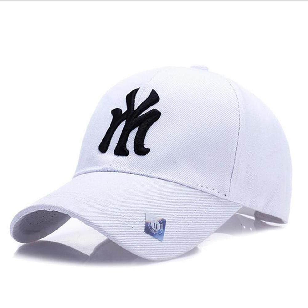 MISSKY 2019 New Summer Baseball Cap For Female Male Fashion Chic Letter Embroidery Casual  Hats For Men Women Couples