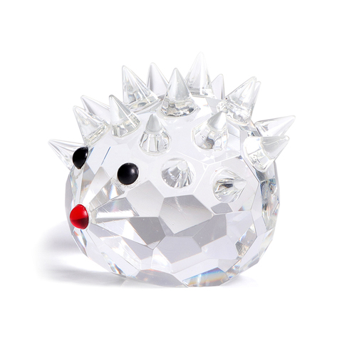 Craft Lovely Hedgehogs K9 Crystal Gift Miniature Figurine Glass Home Decor Ornament for Room Decoration Accessories Gift Pakistan