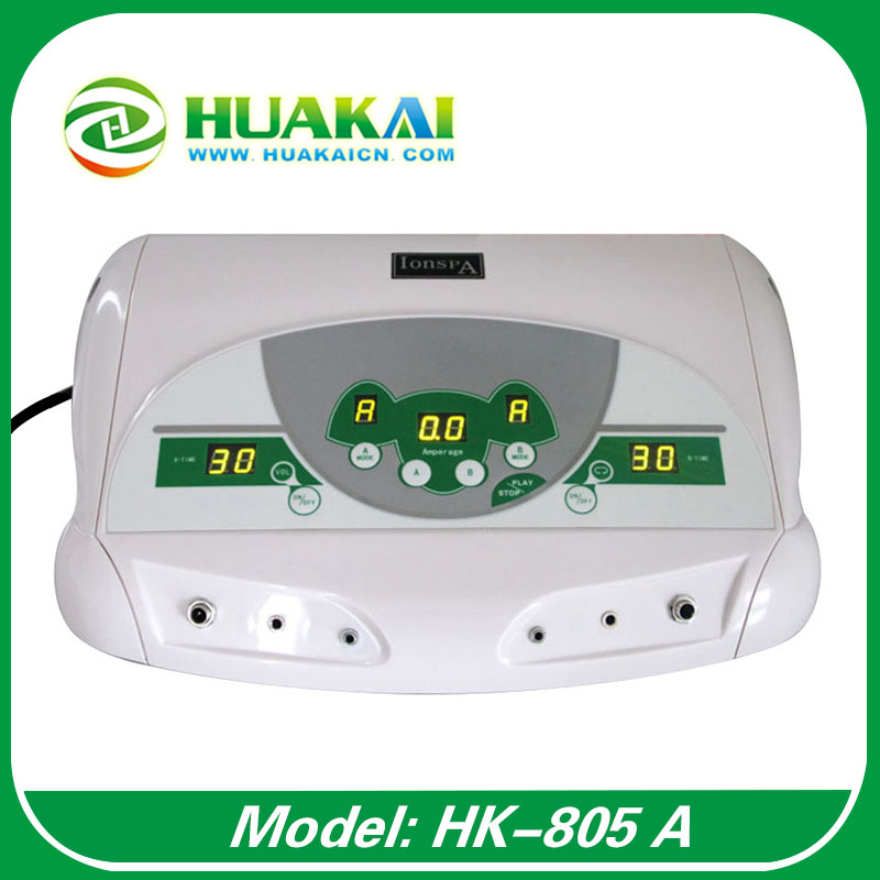 Free shipping Dual Ionic Ion Cleanse Detox Cell Spa with MP3 Music Player HK-805A 2014 new free shipping dual display hk 809 with waistbelts machine for pedicure