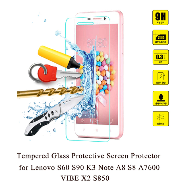 GonoRack 2.5D 9H Premium Tempered Glass for Lenovo S8 A7600 S60 S90 K3 Note A8 VIBE X2 S850 Transparent Screen Protector Film