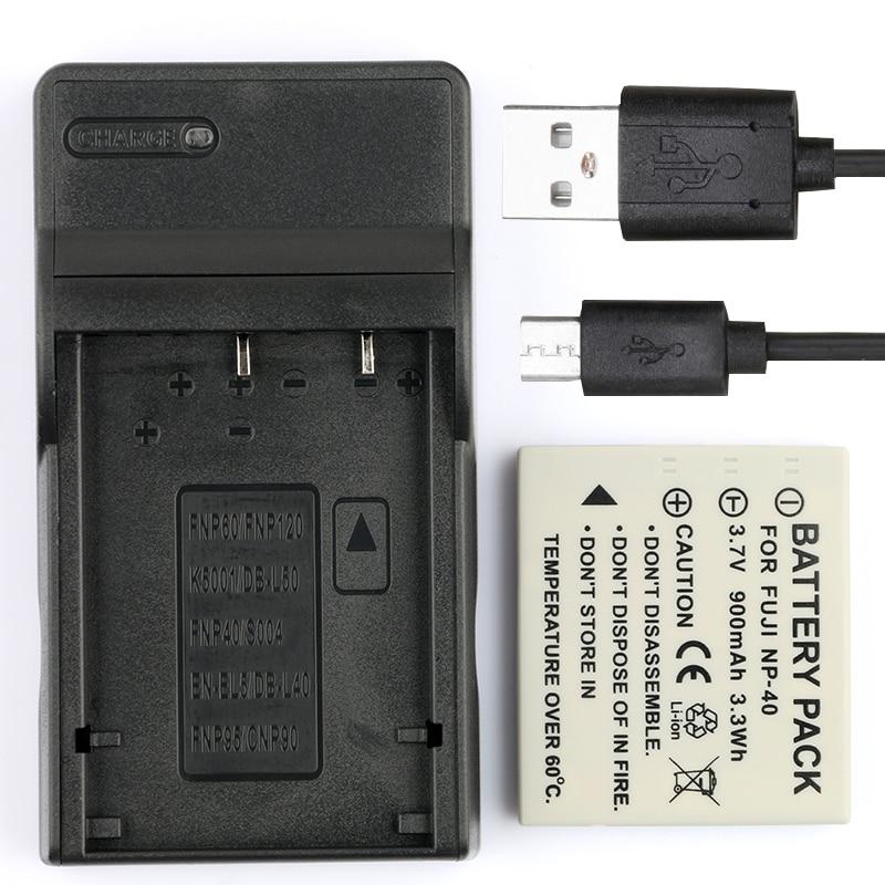 LANFULANG Batterie und Usb-ladegerät für Sanyo NP-40, für Pentax D-Li8, für Benq Dli-102, für Konica Minolta NP-1 und DE-992