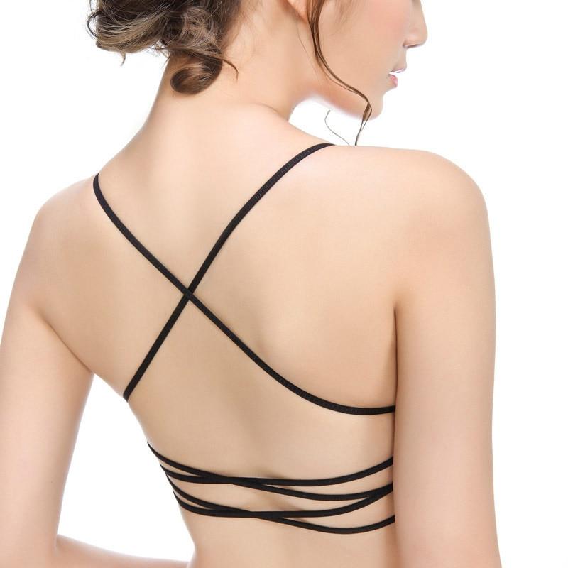 Oius 4 Style Black Sexy Lingerie Women Front Closure Bra -2824
