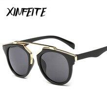 XINFEITE 2017 Fashion Women Men Sunglasses Luxury Coating Mirrored Sun Oculos Male Lady Vintage Driving Retro Female Sun Glasses