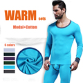 WJ Marca Homens Inverno Quente Long Johns conjuntos Sexy moda algodão modal Ceroulas Ceroulas Conjunto de Roupa Interior térmica de qualidade superior Para homem