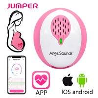 JUMPER ANGELSOUNDS Fetal Doppler Fetal Heart Detector Smart Foetal Doppler Free APP Connection Prenatal Baby Heartbeat Monitor