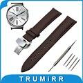 18mm faixa de relógio de couro genuíno para huawei watch/fit honor s1 butterfly buckle strap correia de pulso pulseira marrom preto + ferramenta