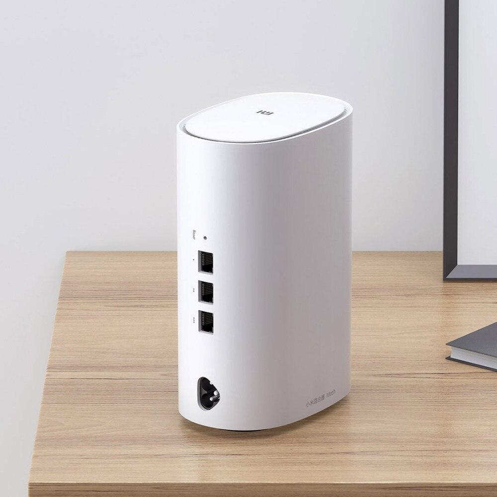 2 pièces Xiao mi WiFi routeur 2.4G/5GHz Smart Xiao mi Mesh WiFi routeur AC1300 + 1000M LAN + 1300M Qualcomm 4 Core 4 amplificateurs de Signal - 6