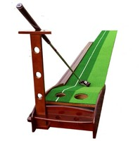 red wood material 2.5m 3m Ball Return Pratice Putter indoor golf green Putting Mat