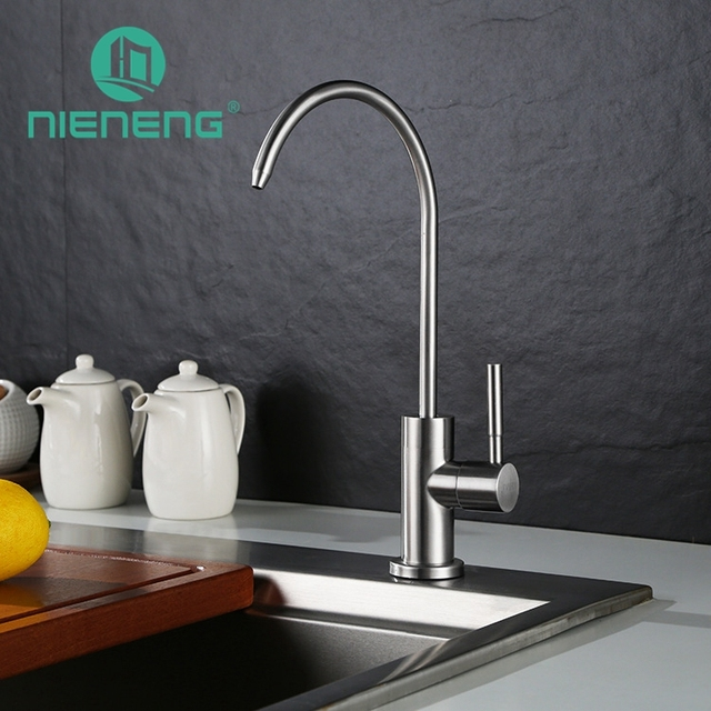Nieneng 304 Stainless Steel Faucet Sink Kitchen Sinks Faucet Mixer Tap  Brushed Drinking Water Kitchen Faucet
