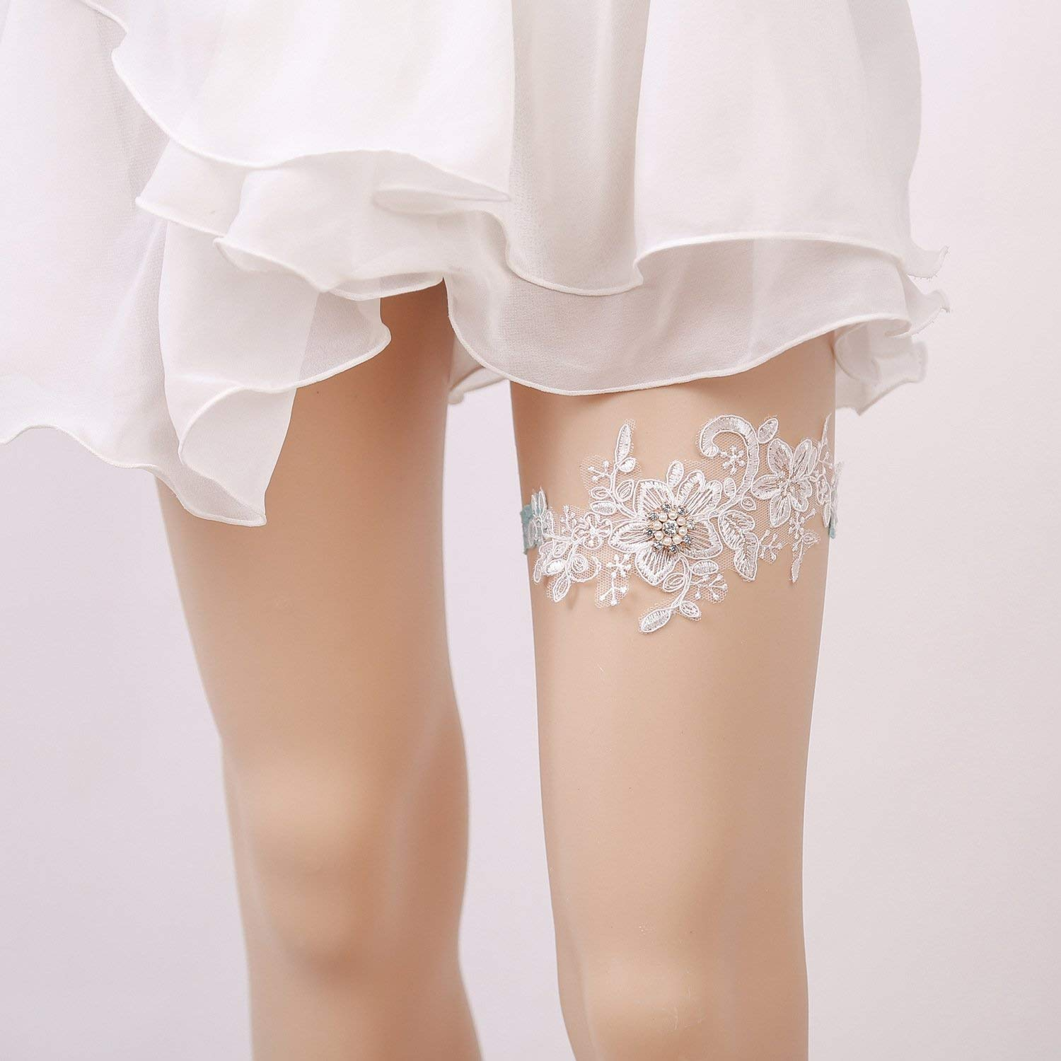 Why Two Garters For Wedding: Bridal Garter, Wedding Garter Elastic Rhinestone