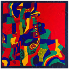 Pintura de Picasso Impressão Moda Lenço Quadrado 90 cm Mulheres Lenços Acessórios da Menina Jovem Presente Silk Sentindo Roupas Combinando 90FJ2