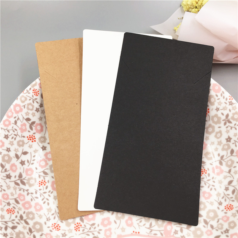 15x8cm 100piece/pack Paper Craft Necklace Bracelet Cards Jewelry Accessory Favors Supply Packaging Vintage Classic Card