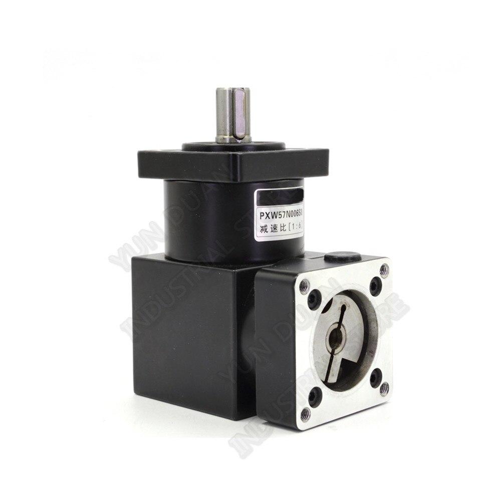 Billig! 4: 1 Right angle Planetary Gearbox 90 grad Winkel Umkehr Ecke Minderer für NEMA23 57mm Schrittmotor