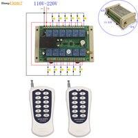 Slepplion 12CH Tensão Universal 110 V-220 V Interruptor do Relé Sem Fio 100 M Receptor De Controle 110 V 220 V EM OFF Placa Do Módulo 433/315 MHz