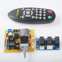 Yjhifi L9110H ЖК-дисплей Объем экрана Двигатель потенциометра пульт дистанционного управления 2.0 канальный Pre-AMP Усилители домашние доска для аудио DIY