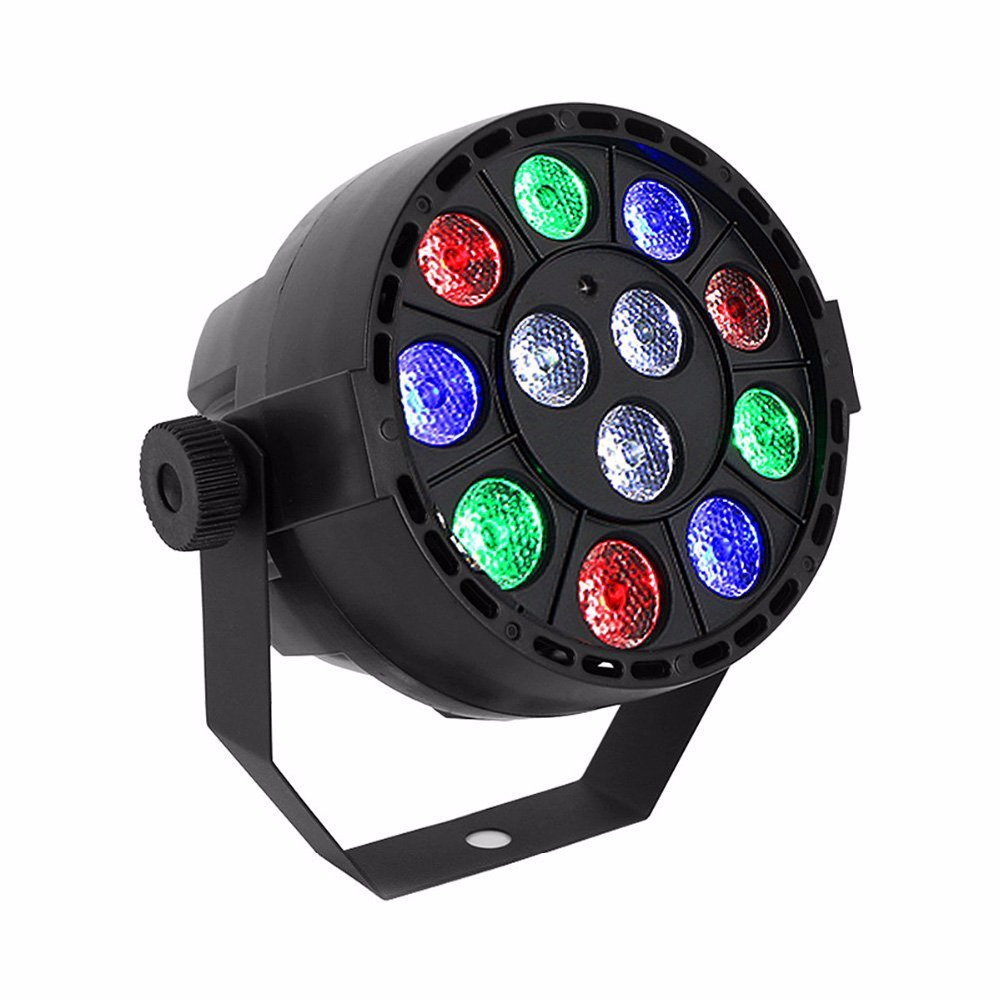 15W DMX-512 RGB LED Stage PAR12 Light Lighting Strobe Party Disco DJ Show VEP54 T10