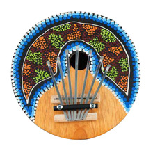 2016Kalimba Thumb Piano 7 Keys Tunable Coconut Shell Painted Musical Instrument New Arrival