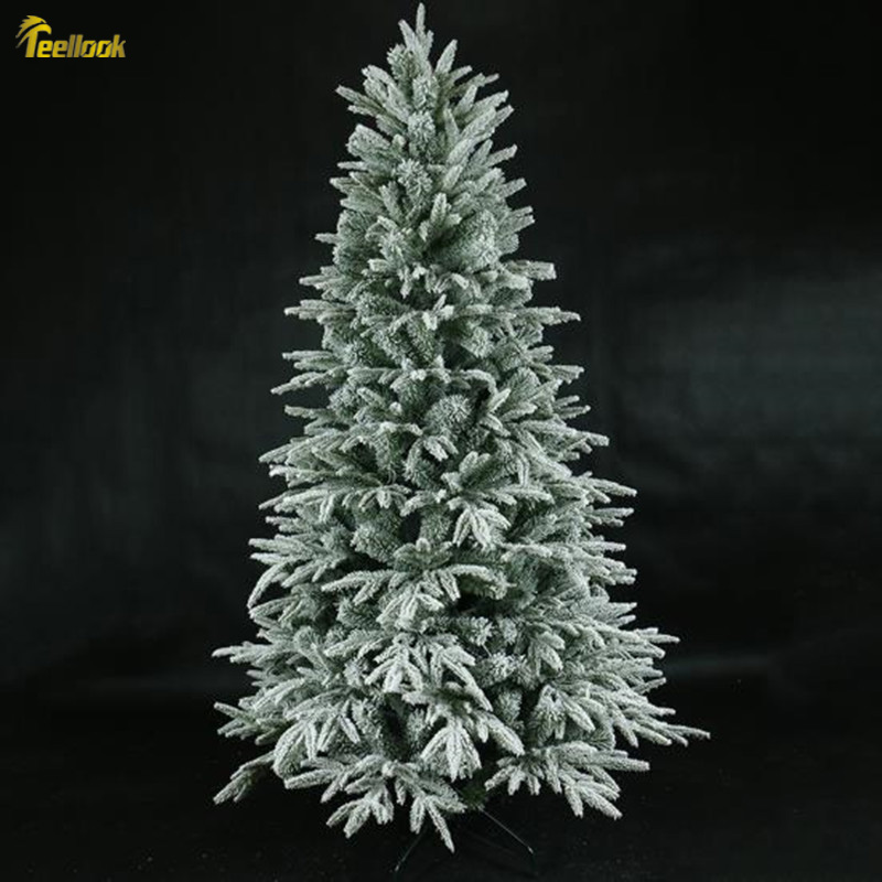 Teellook Снежинка Рождественская елка PE + ПВХ смешанный лист Рождественский отель семейный торговый центр украшение Флокирование дерево