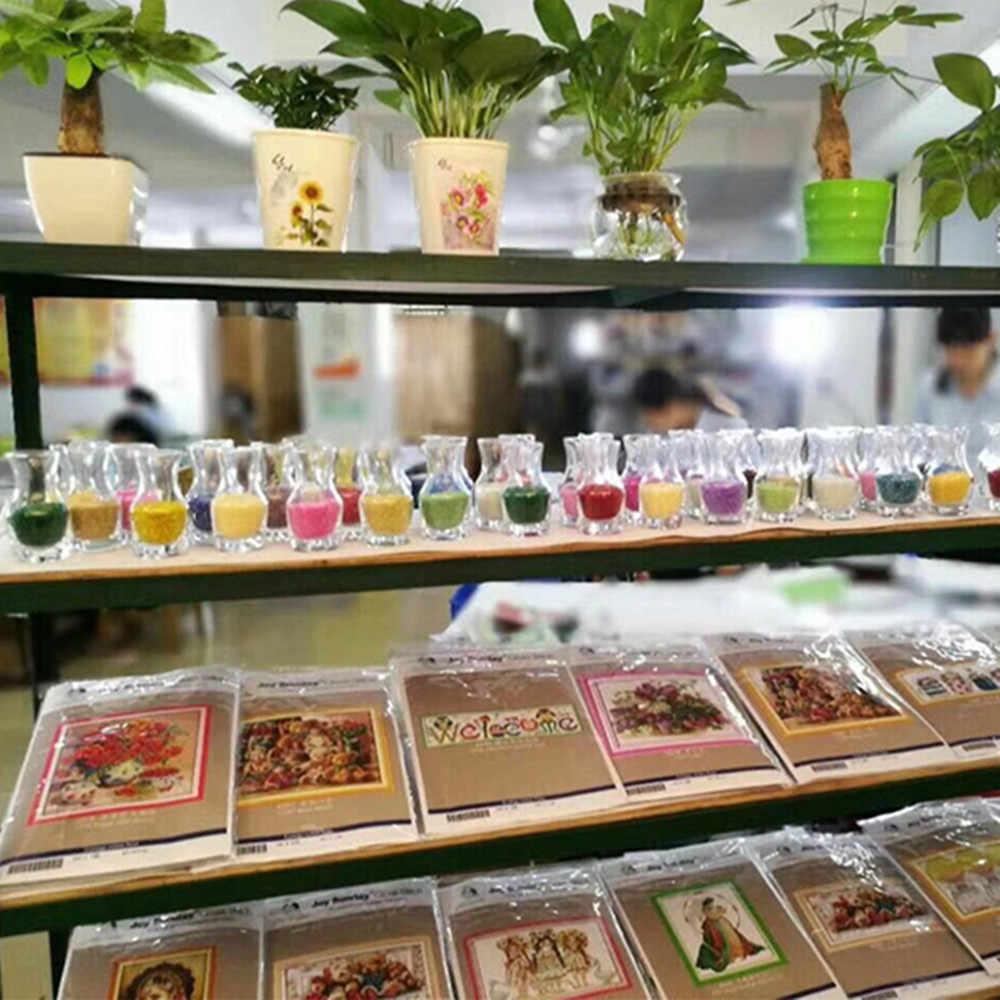 אהבה נצחית רוז הסיני צלב סטיץ ערכות כותנה אקולוגית ברור חותמת מודפסת 11CT 14CT DIY מתנת חג המולד קישוט