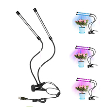Dual-lamp LED Grow Light Fito Lamp 36 Dimmable 2 Levels Plant Lights Bulbs with Adjustable Flexible 360 Degree