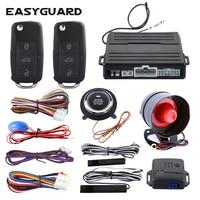 EASYGUARD pke keyless entry system remote starter push start button remote central locking with remote control car alarm kit|Burglar Alarm|Automobiles & Motorcycles -