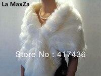 Custom made Winter Faux Fur wraps shawls scarf women Wedding Accessories Evening bridal beige shrug cloak jackets black poncho