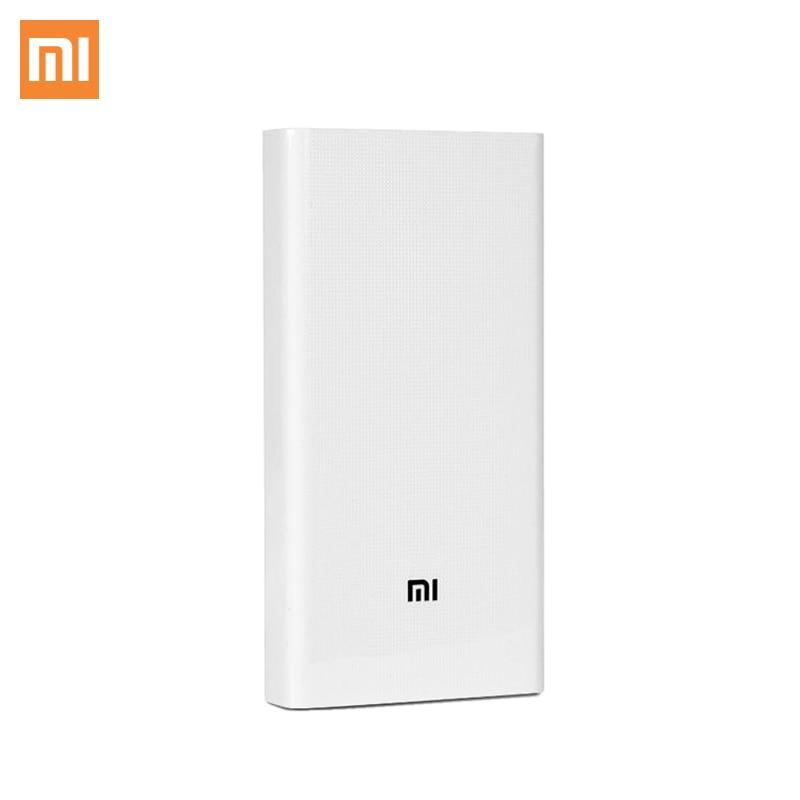 Batterie externe de xiaomi 2C 20000 mAh double USB chargeur Portable Support QC3.0 mi batterie externe banque pour téléphones mobiles télécommande