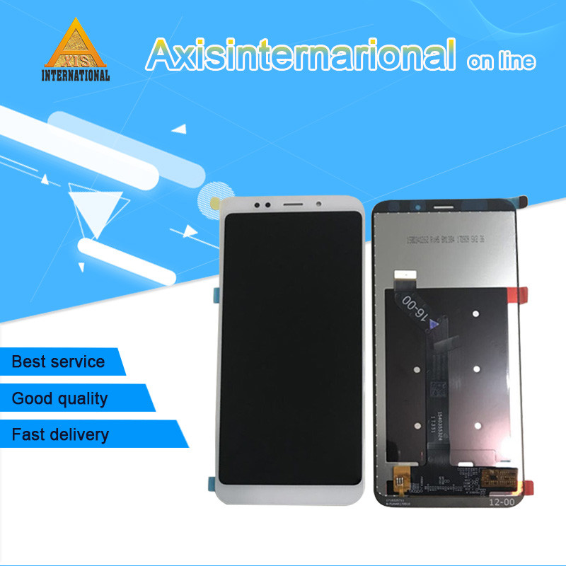 Original Axisinternational For 5.99 Xiaomi Redmi 5 Plus LCD screen display+Touch panel Digitizer with frame for redmi 5 plus