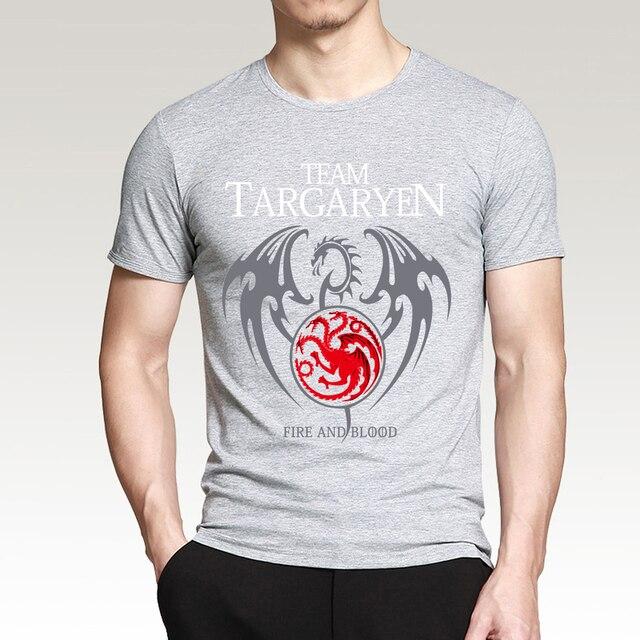"""Team Targaryen"" Cotton Male T-Shirts  5"
