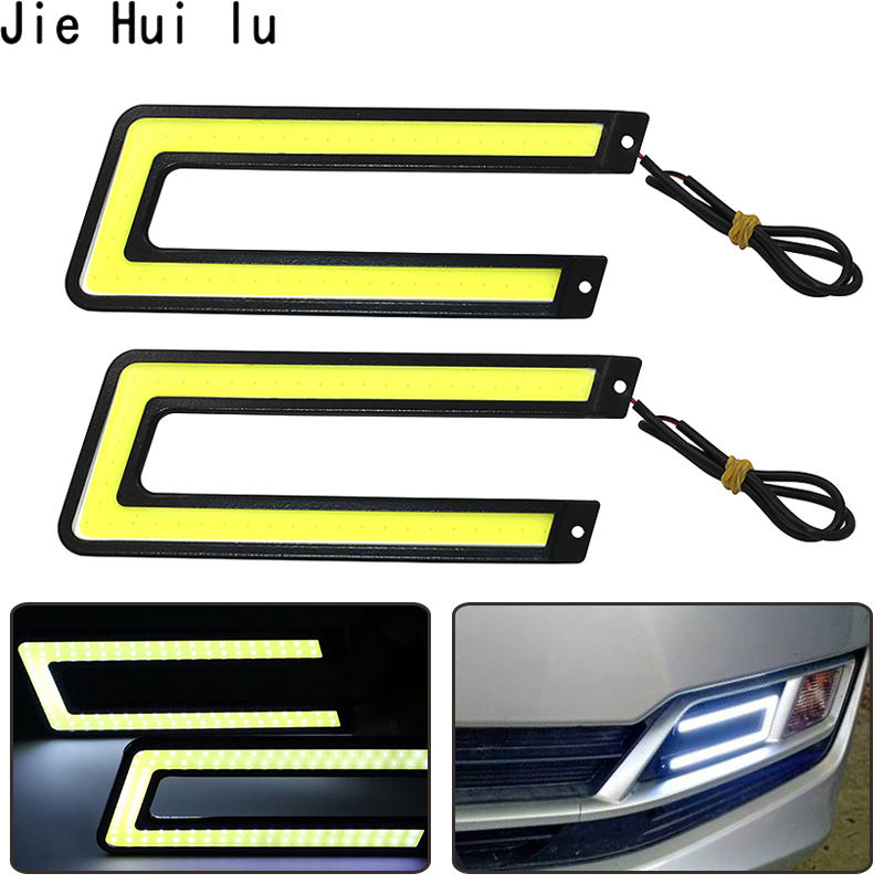 2pcs 14CM Daytime Driving Fog Lights Vehicle Daytime Running Light COB LED Car Lamp External Lights Auto Waterproof Car Styling-in Signal Lamp from Automobiles & Motorcycles