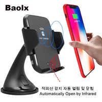 Automatische Auto Drahtlose Lade Infrarot Induktion Drahtlose Ladegerät handy für Samsung Hinweis 8/5 S9 S8 S7 iPhone X 8 plus