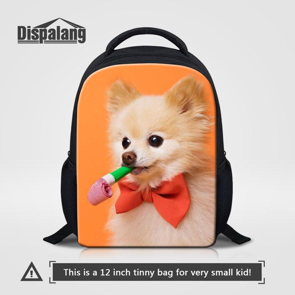 Dispalang 3D животных печати дети ребенок рюкзак детский сад милая собака небольшая Школ ...
