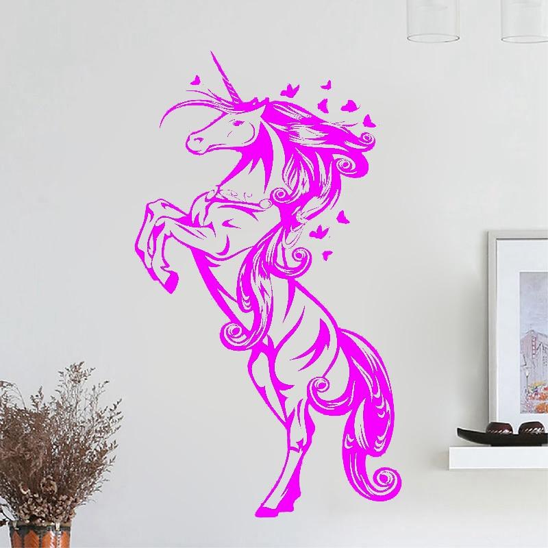 ZN G009 Unicorn Винилді қабырға жапсырмалар - Үйдің декоры - фото 4