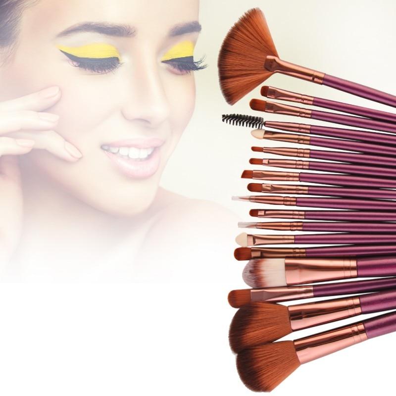 MAANGE 18Pcs Makeup Brushes Kit Powder Foundation Blush Eyeshadow Make Up Brush Set Maquiagem brochas para maquillaje in Eye Shadow Applicator from Beauty Health