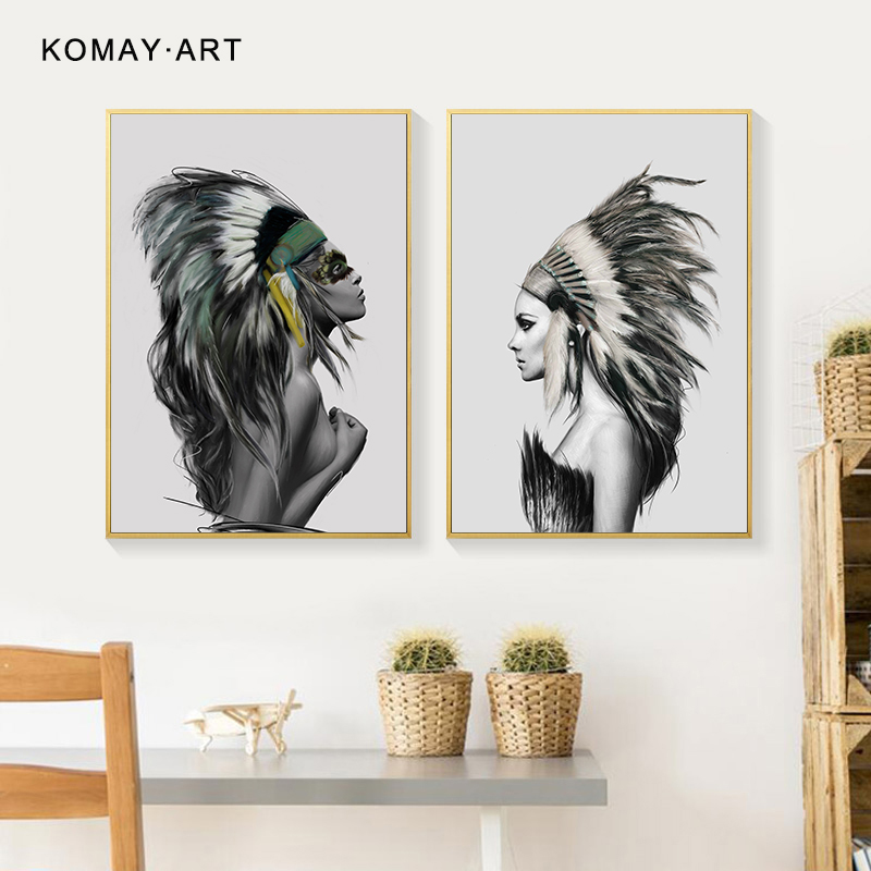 Nude Woman 5PCS HD Canvas print Painting Home decor Picture Room Wall art Poster