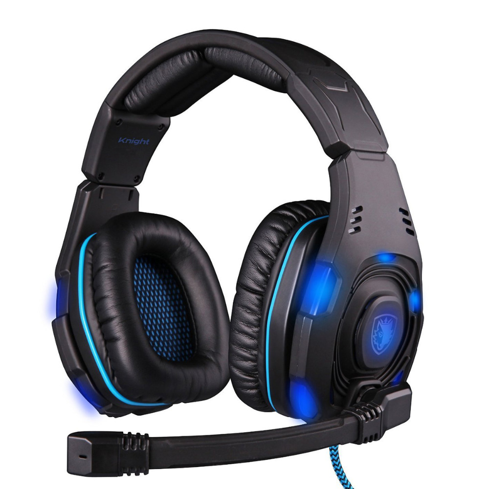 Super Cool SADES SA-907 USB 7.1 Surround Sound Effect Game Headset Headphone W/ Microphone LED Remote Control