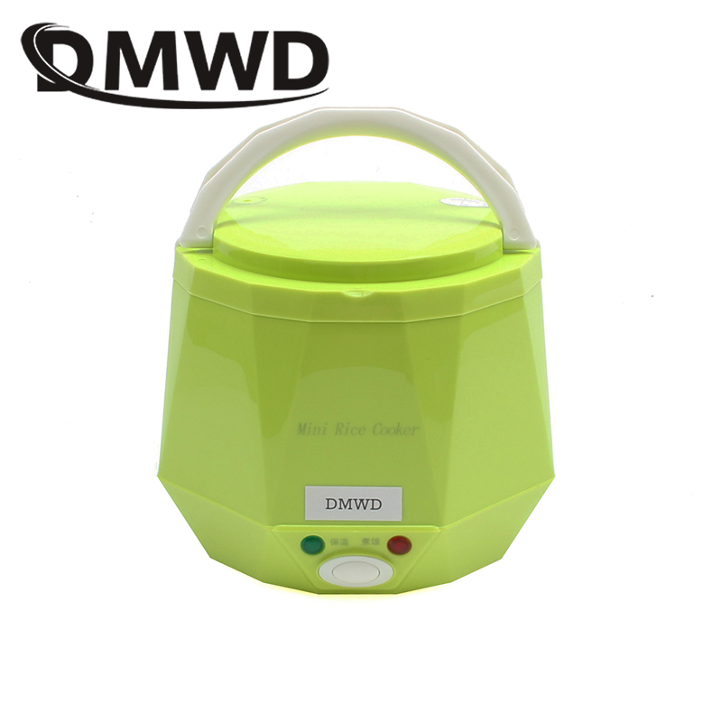 DMWD Portable Rice Cooker 12V 24V for Car/Truck Mini Lunch Box Food Heater Steamer Multifunction Automatic Food Container 1.3L dmwd 12v 24v mini rice cooker car truck soup porridge cooking machine food steamer electric heating lunch box meal heater warmer