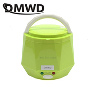 DMWD Portable Rice Cooker 12V 24V for Car/Truck Mini Lunch Box Food Heater Steamer Multifunction Automatic Food Container 1.3L